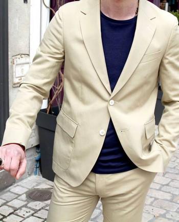 veste coton lin gant rugger canvas unconstructed beige revolt orleans