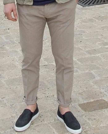 Paolo Pecora pantalon coton beige revolt orleans