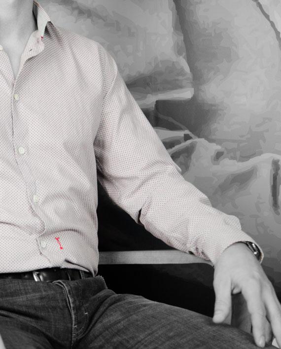 MARCHAND DRAPIER - Chemise Buci Grise à Pois