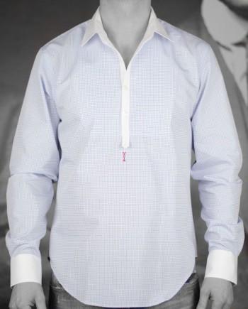 marchand drapier chemise bassman bleu à col amovible revolt Orléans