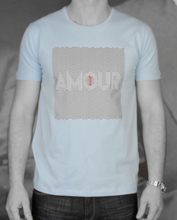 Marchand Drapier t-shirt Amour ciel face