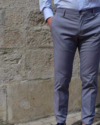 Pantalon casa micro pied de poule ciel at.p.co homme revolt orleans