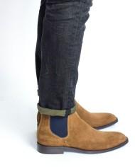 Paradigma boots veau velours miel coté
