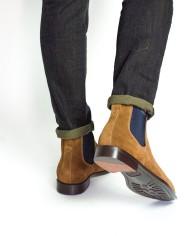 Paradigma boots veau velours miel dos