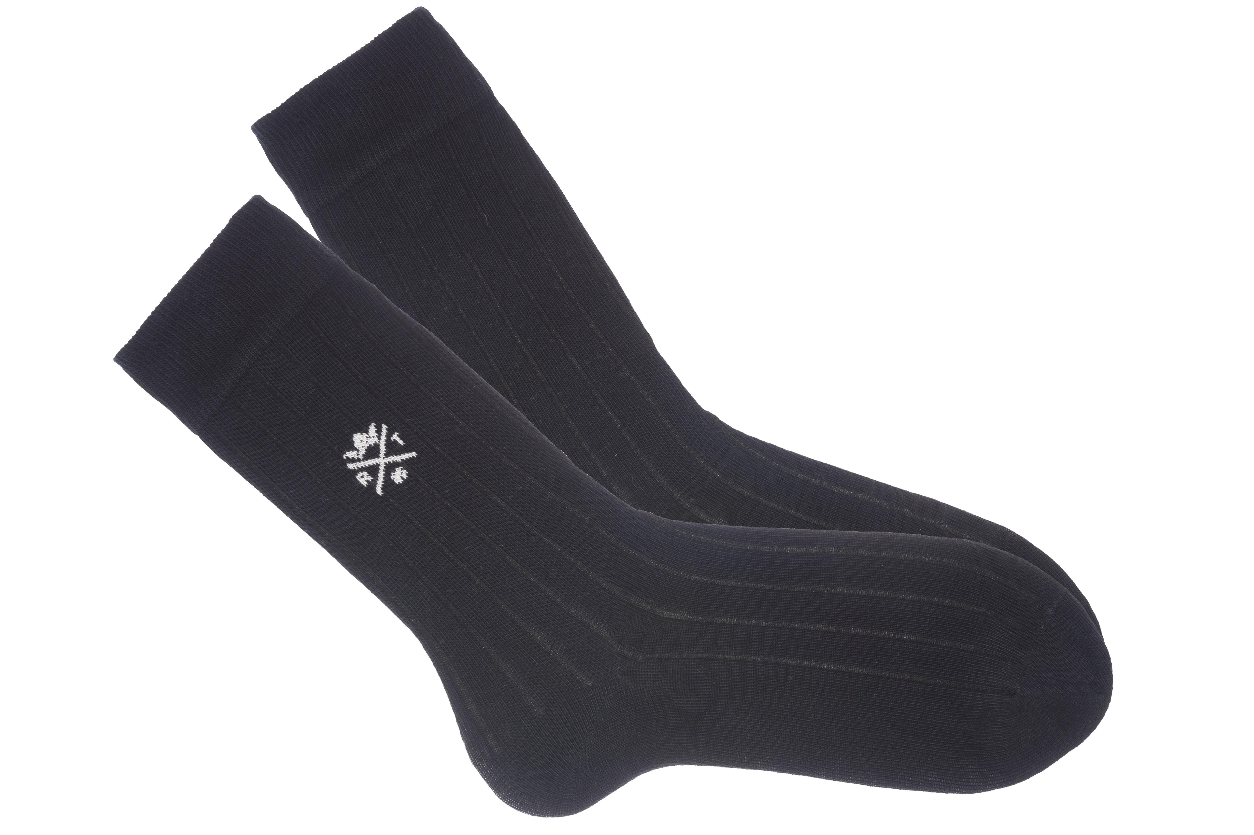 chaussettes unies noires