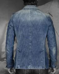 Messagerie veste croisée jeans dos