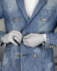 Messagerie veste croisée jeans face