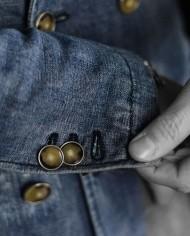 Messagerie veste croisée jeans manche