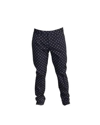 paolo pecora pantalon navy imprimé fleurs revolt orleans