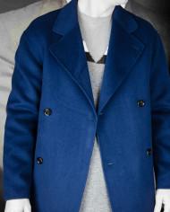 Manteau Plaid Bleu encre Paul & Joe Revolt – 8