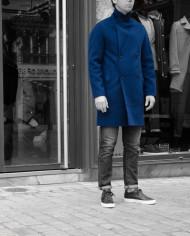 Manteau Plaid Bleu encre Paul & Joe Revolt – 1