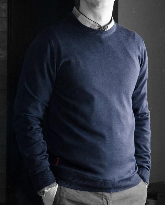 marchand drapier pull Rodo bleu marine Revolt Orléans