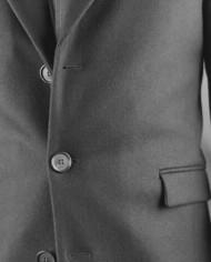 Manteau Rick Taylor noir boutons