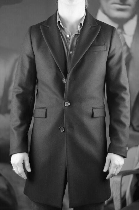 manteau noir micro carreaux gris homme rick taylor revolt orleans