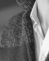 Messagerie cardigan noir:gris col