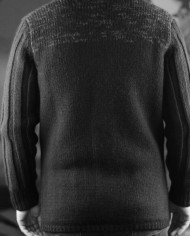 Messagerie cardigan noir:gris dos