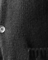 Messagerie cardigan noir:gris maille