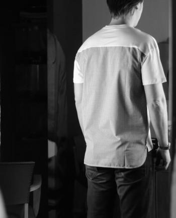 Paolo pecora t-shirt manches courtes blanc vichy noir Revolt Orléans