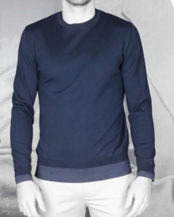 Pull maille / t-shirt marine uni paolo pecora Revolt Orléans