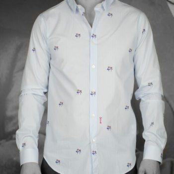 marchand drapier chemise flore chevron bleu revolt Orléans