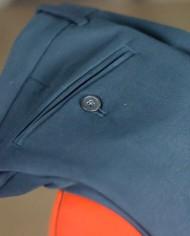 Paolo Pecora pant coton navy à plat