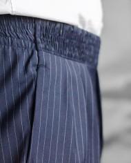 Paolo Pecora pantalon navy rayée détail ceinture