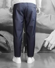 Paolo Pecora pantalon navy rayée dos