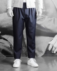 Paolo Pecora pantalon navy rayée face