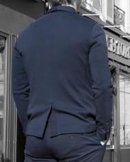 Paolo Pecora veste coton navy dos