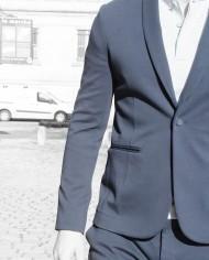Paolo Pecora veste coton navy face