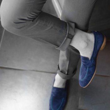 Paradigma chaussure mocassin suède marine revolt orléans