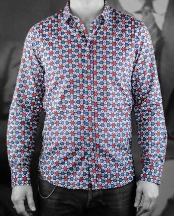 Paul & Joe chemise tatriote bleu Revolt Orléans
