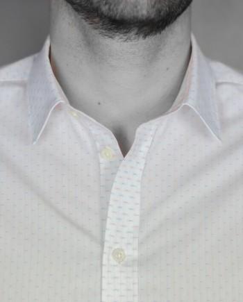 Paul & Joe chemise tripode blanche détail col