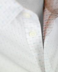 Paul & Joe chemise tripode blanche détail tissu col