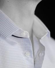 Marchand Drapier chemise buci bleu détail col