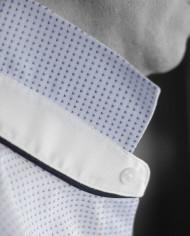 Marchand Drapier chemise buci bleu détail col 2