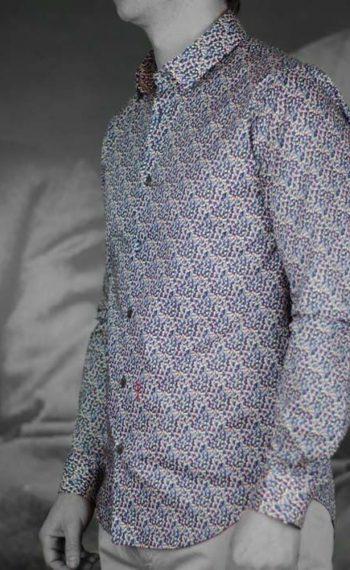 marchand drapier chemise flore print rose revolt Orléans
