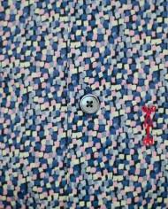 Marchand Drapier chemise flore print rose détail
