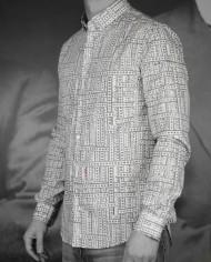 Marchand Drapier chemise print ruban 3:4