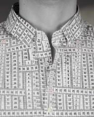 Marchand Drapier chemise print ruban détail col