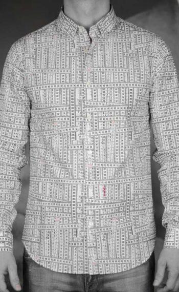 marchand drapier chemise flore print ruban revolt Orléans