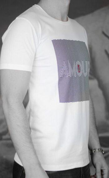 Marchand Drapier t-shirt amour blanc Revolt Orléans