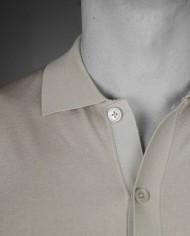 Paolo Pecora chemisette beige détail col