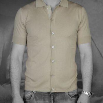 Paolo Pecora chemisette jersey beige Revolt orléans