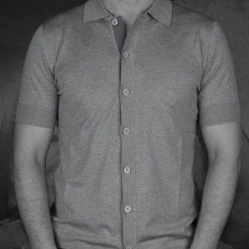 Paolo Pecora chemisette jersey gris Revolt orléans