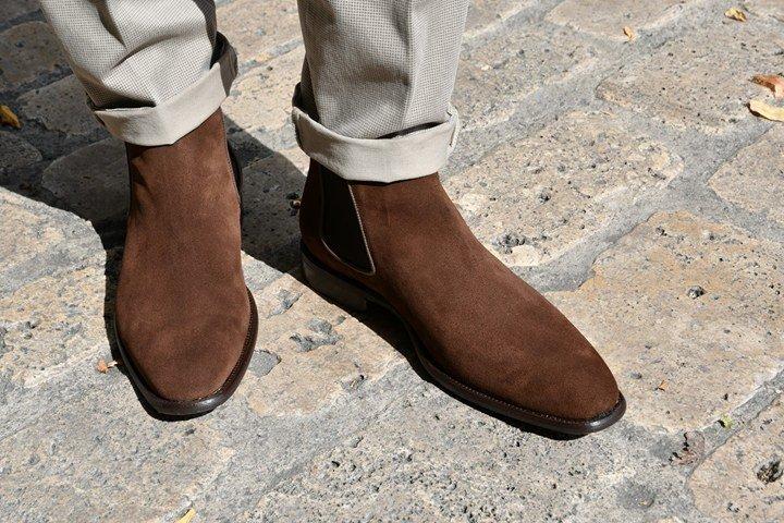 Paradigma chaussure boots veau velours marron revolt orléans