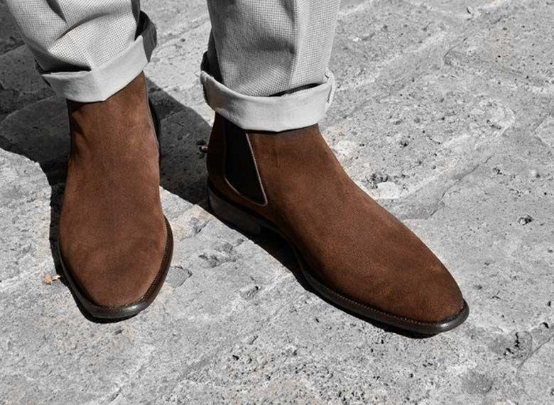 Paradigma boots veau velours marron revolt orléans