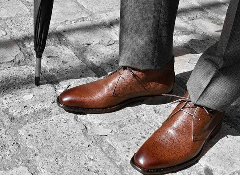 Paradigma chaussure bottines cuir grainé marron revolt orléans