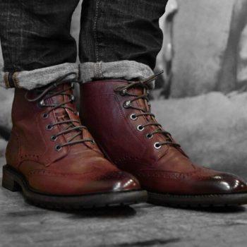 Paradigma chaussures brogues montantes bordeaux revolt orléans