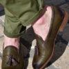 Paradigma chaussure mocassin cuir délavé kaki revolt orléans